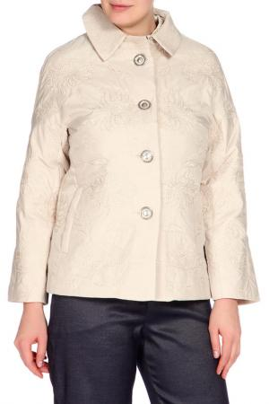 Куртка LAFEI-NIER. Цвет: бежевый
