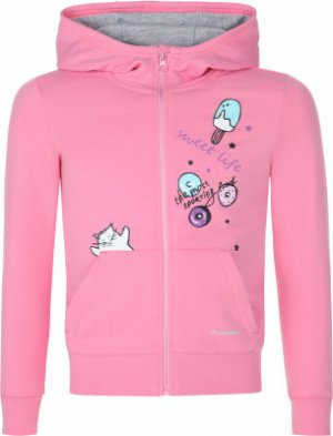 Толстовка для девочек , размер 110 Demix. Цвет: розовый