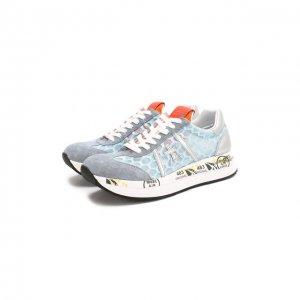 Комбинированные кроссовки Conny Premiata. Цвет: синий