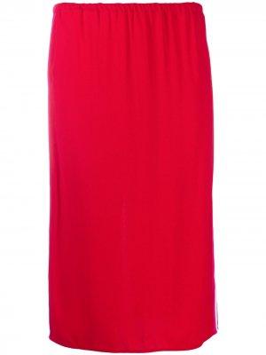 Спортивная юбка с контрастными полосками Marni. Цвет: красный