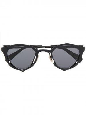 Солнцезащитные очки MM-0045 в геометричной оправе MASAHIROMARUYAMA. Цвет: черный