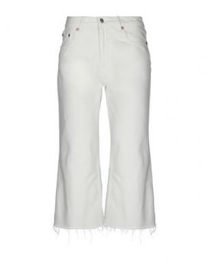 Джинсовые брюки-капри CHEAP MONDAY. Цвет: слоновая кость