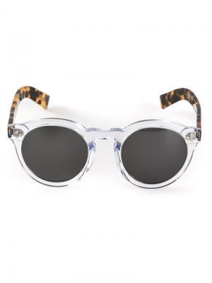 Солнцезащитные очки Leonard clear/havana Illesteva. Цвет: телесный