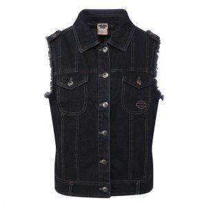 Джинсовый жилет Genuine Motorclothes Harley-Davidson. Цвет: серый
