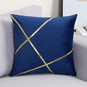 Чехол для подушки без наполнителя в форме линии SHEIN. Цвет: ярко-синий