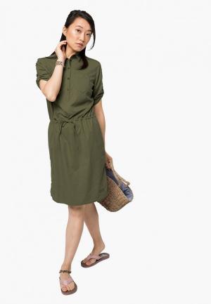 Платье Jack Wolfskin DESERT PARK DRESS. Цвет: хаки