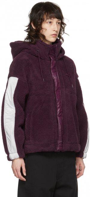 Purple Fleece Hooded Jacket Li-Ning. Цвет: purple