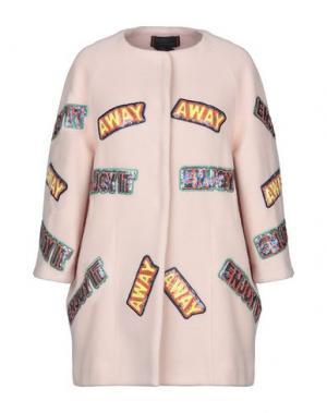 Пальто FEMME by MICHELE ROSSI. Цвет: светло-розовый