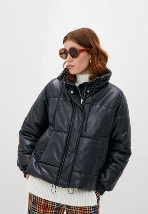 Куртка кожаная Sportmax Code DELTA. Цвет: синий
