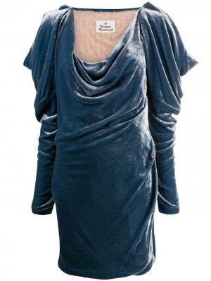 Платье мини с длинными рукавами Vivienne Westwood. Цвет: синий
