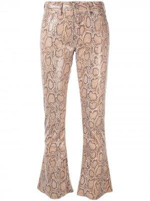 Расклешенные брюки Laneus. Цвет: коричневый