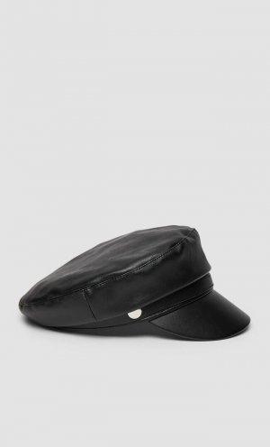 Черное Кепи Женская Коллекция Черный 103 Stradivarius. Цвет: черный
