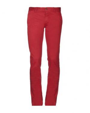 Повседневные брюки BOSS HUGO. Цвет: кирпично-красный