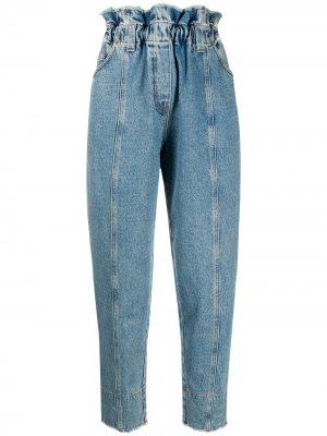 Зауженные джинсы с завышенной талией Philosophy Di Lorenzo Serafini. Цвет: синий