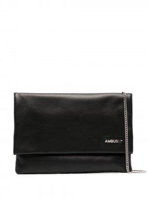 Сумка для ноутбука с логотипом AMBUSH. Цвет: черный