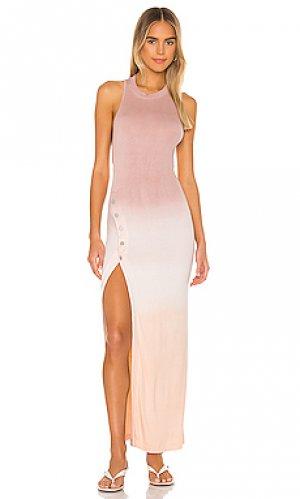 Макси платье beekman ALIX NYC. Цвет: розовый