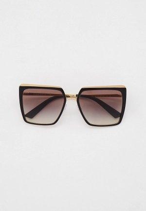 Очки солнцезащитные Prada PR 58WS AAV0A7. Цвет: черный