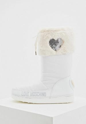 Луноходы Love Moschino. Цвет: белый