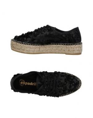 Низкие кеды и кроссовки ESPADRILLES. Цвет: черный