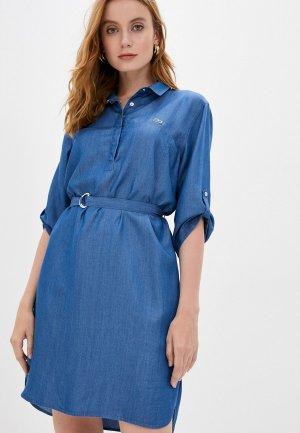 Платье джинсовое Lacoste. Цвет: синий