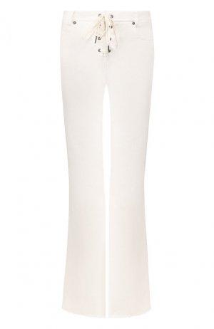 Расклешенные джинсы Zimmermann. Цвет: белый