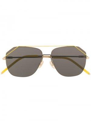 Солнцезащитные очки-авиаторы Fendi Eyewear. Цвет: желтый