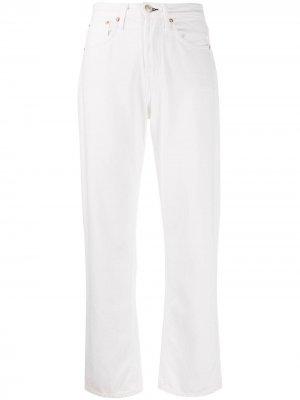Укороченные джинсы Rag & Bone. Цвет: белый