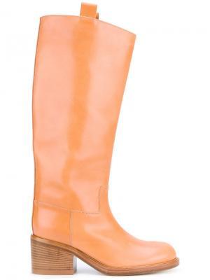 Сапоги по колено A.F.Vandevorst. Цвет: бежевый