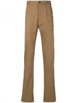 Классические брюки-чинос Lanvin. Цвет: коричневый