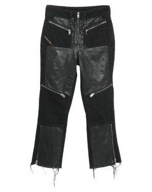 Джинсовые брюки-капри DIESEL. Цвет: черный