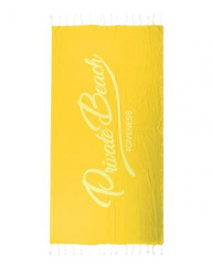 Пляжное полотенце 4GIVENESS. Цвет: желтый