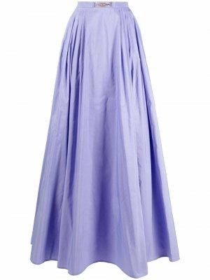 Юбка с поясом Elisabetta Franchi. Цвет: фиолетовый
