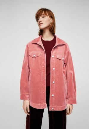 Куртка Mango - PERLAS. Цвет: коралловый