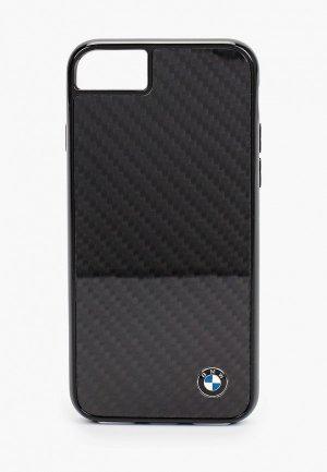 Чехол для iPhone BMW 8 / SE 2020, Signature Real carbon Black. Цвет: черный