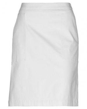 Юбка до колена CAPPELLINI by PESERICO. Цвет: белый