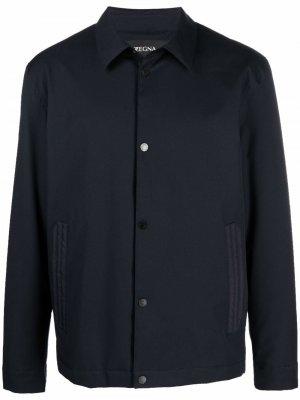Buttoned-up shirt jacket Z Zegna. Цвет: синий