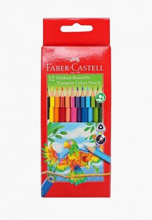 Набор карандашей Faber-Castell 12 цветов, трехгранные. Цвет: разноцветный