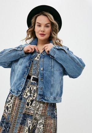 Куртка джинсовая Cracpot. Цвет: голубой