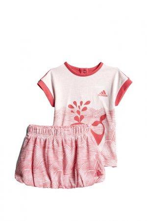 Костюм I SSET FUN G adidas. Цвет: розовый