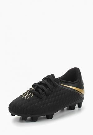 Бутсы Nike Hypervenom 3 Club (FG) Kids Firm-Ground Football Boot. Цвет: черный