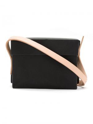 Plastic bag with leather straps Gloria Coelho. Цвет: черный