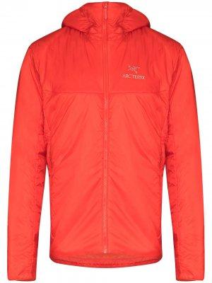 Arcteryx куртка Nuclei FL с капюшоном Arc'teryx. Цвет: оранжевый