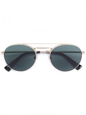 Round aviator sunglasses Valentino Eyewear. Цвет: металлический