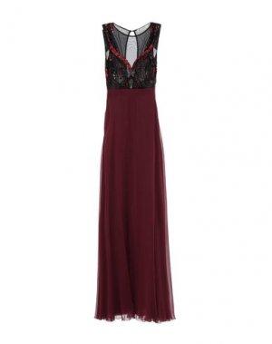 Длинное платье MANGANO. Цвет: баклажанный