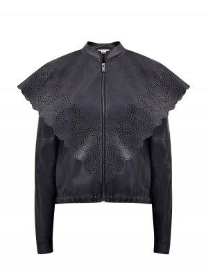Куртка Skin Free с перфорированным кейпом STELLA McCARTNEY. Цвет: черный