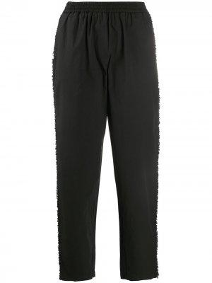 Укороченные брюки прямого кроя 8pm. Цвет: черный