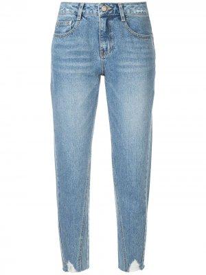 Мешковатые джинсы с прорванными деталями SJYP. Цвет: синий