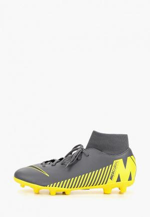 Бутсы Nike MENS SUPERFLY 6 CLUB (MG) MULTI-GROUND FOOTBALL BOOT. Цвет: серый