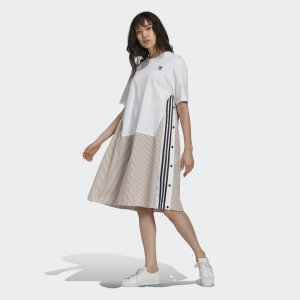 Платье-рубашка Originals adidas. Цвет: белый