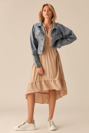 Куртка джинсовая Love Republic. Цвет: 102, голубой, индиго